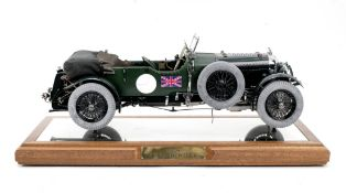 A fine 1:8 scale limited edition model of a 1929 4½ Litre Bentley by Sapor Modelltechnik of ...