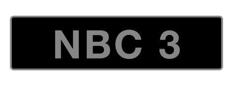 UK Vehicle Registration Number 'NBC 3',