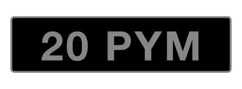 UK Vehicle Registration Number '20 PYM',