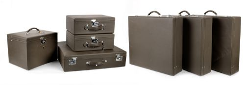 A seven-piece set of leather luggage by Trunks of Haslemere to suit Rolls-Royce Shadow, ((7))