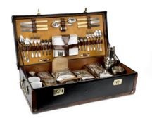 A cased picnic set for six persons by G W Scott & Sons, circa 1909,