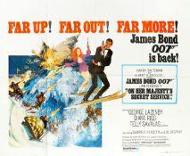 'On Her Majesty's Secret Service', original James Bond film poster, 1969