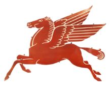 A rare Mobiloil 'Pegasus' garage wall sign, American,
