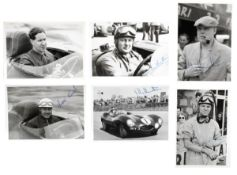 Six driver signed photographs, ((6))