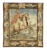 A Flemish 17th century historical tapestry possibly Van Maelsack Atelier Bruxelles depicting the...