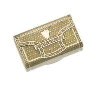 An early 19th Century Swiss gold musical snuff box Henri Neisser, Geneva 1809 - 1814