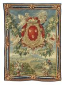 An impressive Flemish, 18th century armorial tapestry de Vos Workshop, Brussels, manufactured by ...