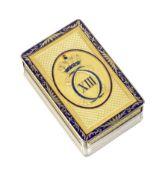An early 19th century German gold and enamel Royal presentation box Hanau, circa 1805, stamped '1...
