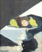 Brian Ballard R.U.A. (Irish, born 1943) Silver With Fruit