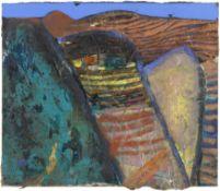 Barbara Rae C.B.E., R.A., R.S.A. (British, born 1943) Striped Hillsides