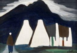 Markey Robinson (Irish, 1918-1999) Cottages IV