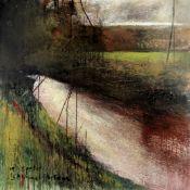 Kurt Jackson (British, born 1961) In Spate, Skimmel Bridge