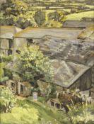 Christopher Bramham (British, 1952) Small Farm, Summer Evening
