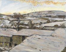 Christopher Bramham (British, 1952) Bodmin Moor - Snow (Painted in 2000)