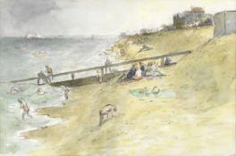 Edward Ardizzone C.B.E., R.A. (British, 1900-1979) Deal Beach at High Tide