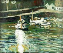 John Bratby R.A. (British, 1928-1992) Belt of Shimmering Sun on Water (Painted in 1964)