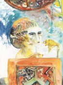 John Bellany C.B.E., R.A., H.R.S.A., L.L.D.(Lon) (British, 1942-2013) One Singer, One Song (Paint...