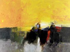 Donald Hamilton Fraser R.A. (British, 1929-2009) Beach Seascape (Painted in 1957)