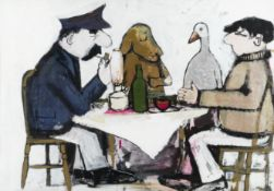 John Burningham (British, 1936-2019) Borka: The Adventures of a Goose With No Feathers (Painted c...