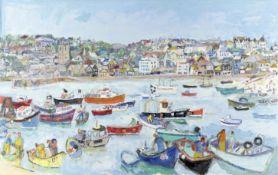 Linda Weir (British, born 1951) All Across St. Ives (unframed)