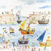 Simeon Stafford (British, born 1956) In the Harbour (unframed)