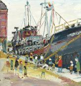 Fred Yates (British, 1922-2008) Dockside