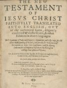 BIBLE, IN ENGLISH, RHEIMS The New Testament of Jesus Christ Faithfully Translated into English......