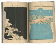 JAPAN - KIMONO PATTERN AND WOODBLOCK BOOKS UENO SEIKO. Hana no kage [Shadows of Flowers], Dō...