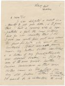 IRELAND – COUNTESS MARKIEVICZ Autograph letter signed ('your affectionate unknown cousin C...