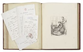 MILLAIS (JOHN) 'Woodcuts from Drawings by J.E. Millais', with 4 autograph letters signed from Mil...
