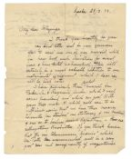 EXPLORATION & SCIENCE Autograph letter signed ('Fridjof Nansen') to Edward Whymper and five other...