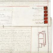 DICKENS (CHARLES) Two conjoint indentures, both signed ('Charles Dickens'), regarding no. 30 Grov...