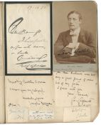 LITERATURE, SCIENCE AND THE ARTS Collection, contained in three albums and loose, comprising a la...