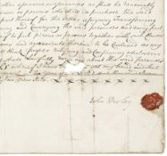 WESLEY (JOHN) - IRELAND Document signed ('John Wesley'), a Letter of Attorney with reference to a...