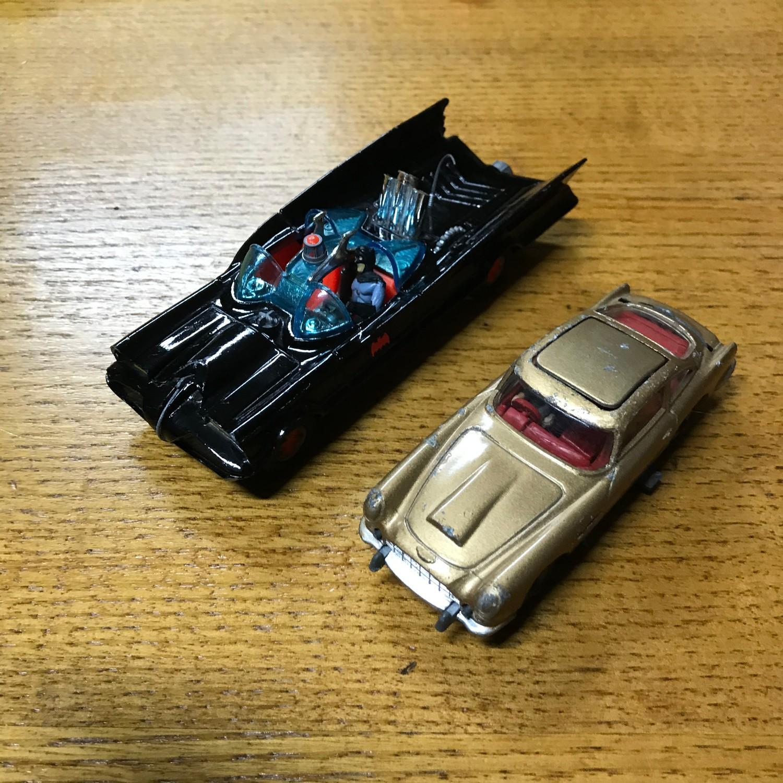 Vintage Corgi Batmobile And Corgi James Bond Aston Martin