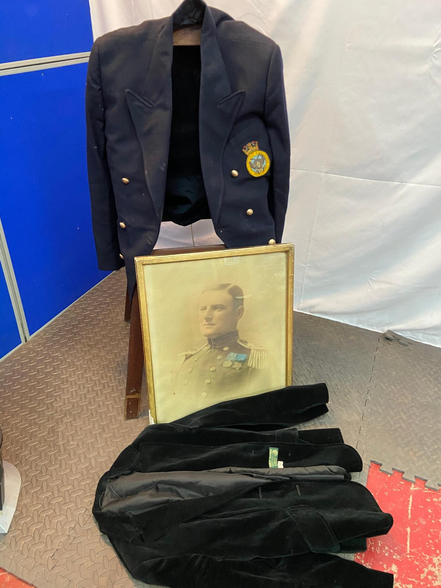 Lot 642D - A Military Telegraphist Air Gunners Association coat, Military photo and vintage Murray Brothers