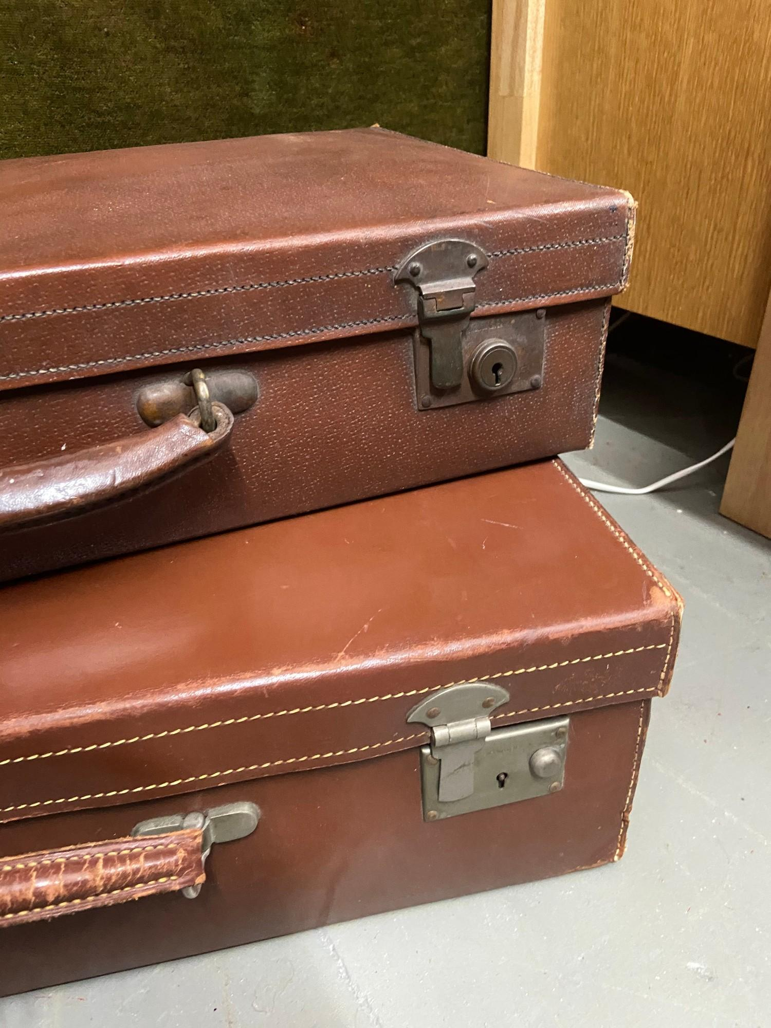 Lot 410C - A Lot of two vintage leather travel cases.