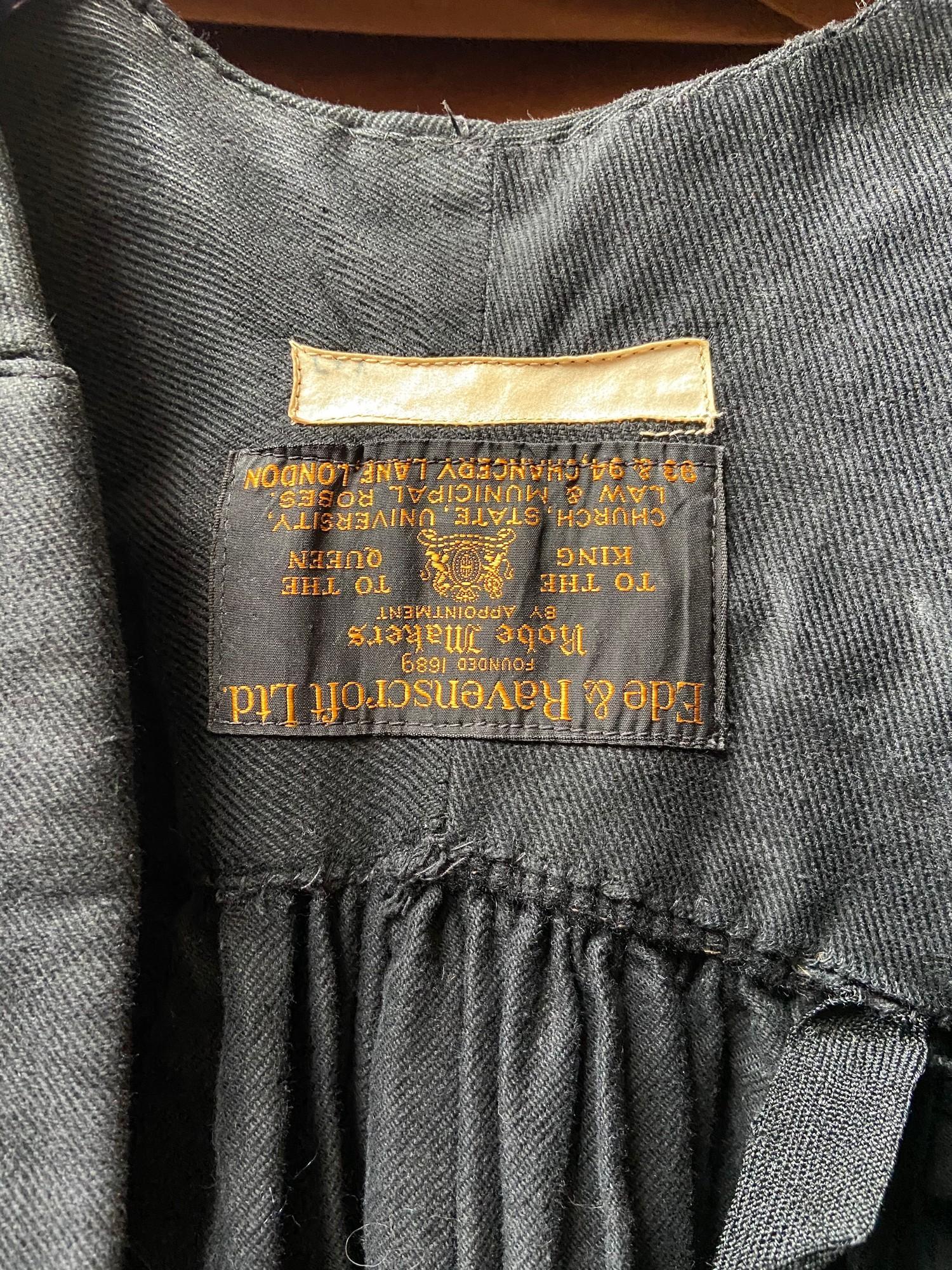 Lot 399C - Antique Ede & Ravenscroft Ltd Robe/ Graduation gown.