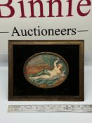 A Late 18th/ Early 19th century miniature painting of a semi nude lade laying down. Signed D' Van
