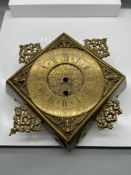 Antique brass wall clock engraved 'Cor Herbert London Bridge' Designed with a French clock movement.