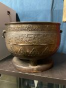 A 19th Century Chinese Bronze incense burner, designed on three pedestal legs. Finished with a