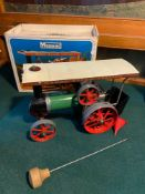 A Vintage Mamod steam tractor with original box.