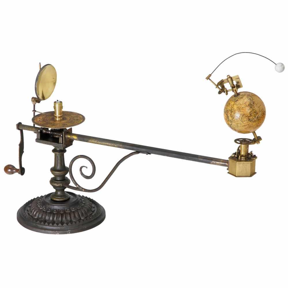 Los 51 - Tellurium and Lunarium by Jan Felkl, Prague, c. 1880Physical demonstration model, signed on the