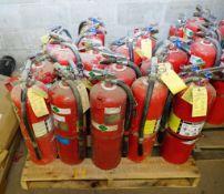 Skid of ABC Fire Extinguishers