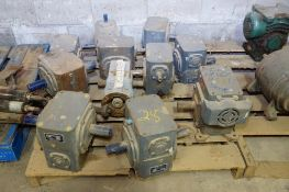 Skid of Boston Gear Boxes