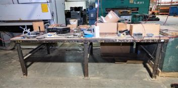 Worktable with Tools, Clams, and Accessories