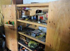 Sawblades Wood Cabinet and Fan