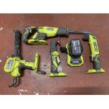 Set of RYOBI Cordless Power Tools.
