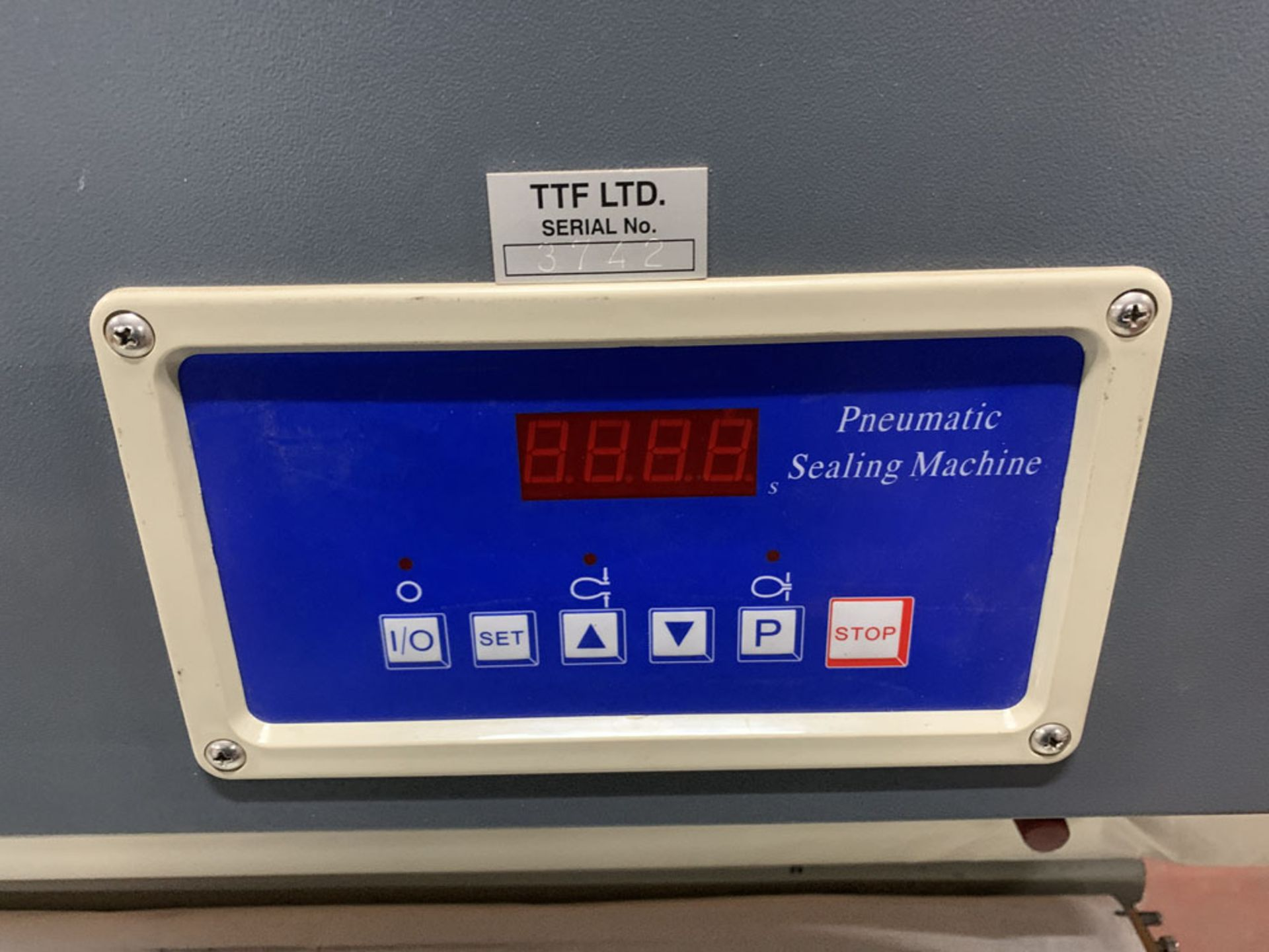 Lot 15 - TTF Ltd Model FMQP Pneumatic Sealing Machine. Single Phase. Year 2013.