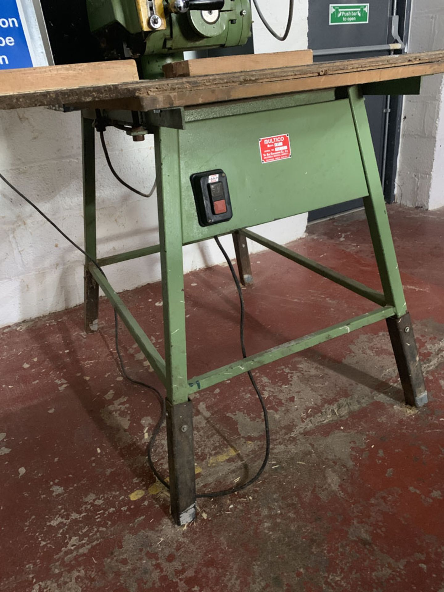 Lot 35 - Multico Model C2/3 Radial Wood Saw. Serial No. 708.